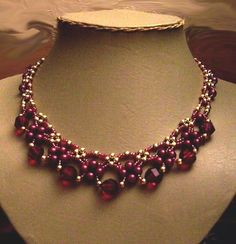 Bead necklace free pattern by Songbird39