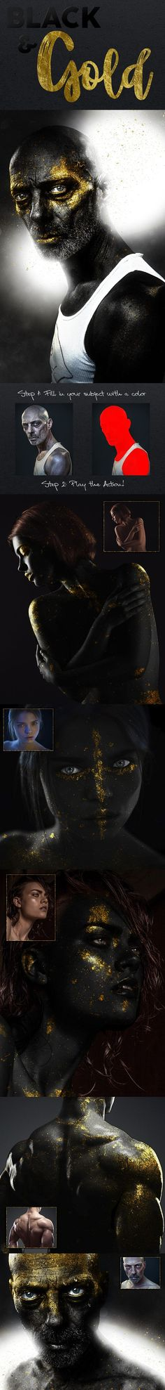 Black & Gold Photoshop Action - Photo Effects Actions