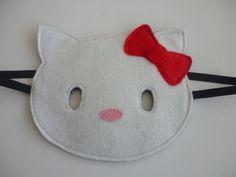 Felt Hello Kitty mask for dressing up/costume/fancy dress. £4.00, via Etsy.