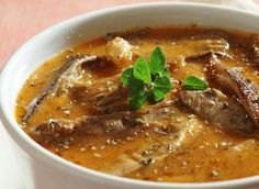 Drštková polévka z hlívy ústřičné a zeleniny Metabolic Balance, Oysters, Chowder, Metabolism, Thai Red Curry, Soup Recipes, Mozzarella, Low Carb, Beef