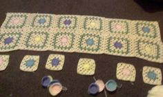 This is my spring blanket started 4 days ago