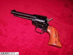 Heritage Arms Rough Rider 22 LR & 22 magnum. 6 shooter.   Excellent target gun, very accurate and has a nice balanced feel.
