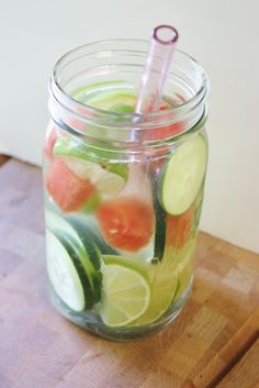 healthy fruit and herb water infusions!  Water infusions are a healthy way to dress up your water