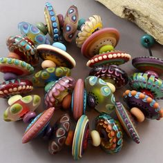 Magma-Beads-Life-Disks-Handmade-Lampwork-Beads
