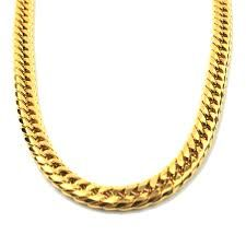 Kohl S Men S Gold Tone Stainless Steel Curb Chain Necklace Gold Chains For Men Stainless Steel Curb Chain Mens Gold
