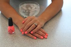 How to make your nails dry super fast. Just get cup of ice cubes and water hold your hands in for 15 30 seconds and it freezes your nails dry!