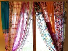 "Boho Curtains Gypsy Curtains ""In Stock"" Hippie Curtains Handmade Curtains Bohemian Curtains Shabby Chic Curtains – 2019 - Curtains Diy Indian Curtains, Scarf Curtains, Bohemian Curtains, Shabby Chic Curtains, Bohemian House, Boho Room, Boho Gypsy, Hippie House, Gypsy Chic"