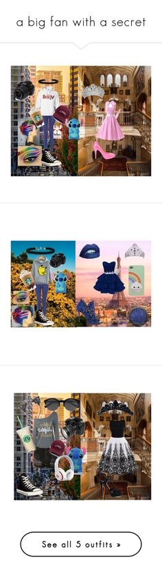 """a big fan with a secret"" by sierranicoleteague on Polyvore featuring TIARA, Disney, Converse, Vanessa Mooney, Nikon, Angelo, Oscar de la Renta, WithChic, Topshop and Yves Saint Laurent"