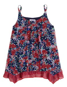 Flowy Crop Floral Tank | Girls Tops & Tees Clothes | Shop Justice
