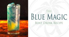 The Blue Magic Boat Drinks Recipe Ingredients: 1 oz Blue Chair Bay Coconut Rum 1 oz Blue Curacao liqueur Sprite soda pineapple juice Mixing Instructions: Put three ice cubes in a glass then add Malibu and Blue Curacao. Fill glass half with Sprite half with Pineapple Juice. Stir. Raise glass and toast.