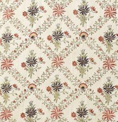 Fabric Closeup 1770 Woman's Robe à la Française | LACMA Collections