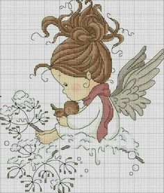 Thrilling Designing Your Own Cross Stitch Embroidery Patterns Ideas. Exhilarating Designing Your Own Cross Stitch Embroidery Patterns Ideas. Cross Stitch Fairy, Cross Stitch Angels, Cross Stitch For Kids, Beaded Cross Stitch, Cross Stitch Charts, Cross Stitch Designs, Cross Stitch Embroidery, Embroidery Patterns, Cross Stitch Patterns