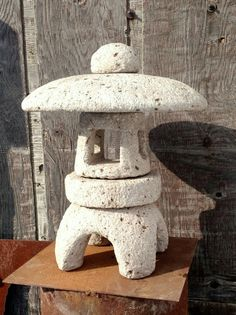 "$150 dollars 18"" tall 15"" wide Premium Hypertufa Japanese Lantern Pagoda by FarmbrookDesigns"