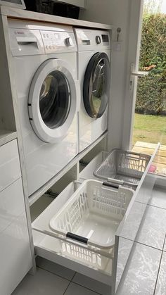 Modern Laundry Rooms, Laundry Room Layouts, Laundry Room Remodel, Laundry Room Organization, Laundry In Bathroom, Basement Laundry, Laundry Closet, Laundry Room Design, Home Room Design