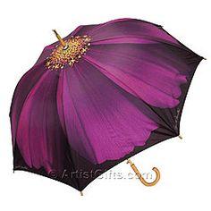 Harold Feinstein Auto Open Purple Cosmo Cane Umbrella, Multi-Colored, One Size Floral Umbrellas, Umbrellas Parasols, Rain Umbrella, Under My Umbrella, Umbrella Painting, Vintage Umbrella, Brollies, Gifts For An Artist, Cosmos