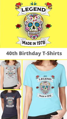 198293756 40th Birthday T Shirts For Women. This is an ideal 40th birthday gift idea  for