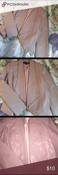 Forever 21 Leather Blazer Nude Pink I love this piece but my style has changed so much since buying this, has cute style lines on back, long lapels in front Forever 21 Jackets & Coats Blazers