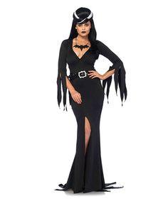 Look at this #zulilyfind! Black Immortal Mistress Costume Set #zulilyfinds