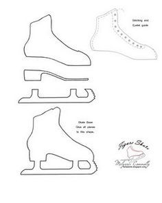 Free Printable Ice Skate Template from PrintableTreats.com