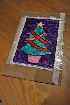 Stained glass windows from tissue paper.
