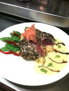 Sesame crusted Ahi Tuna at Kincaid's Bloomington, MN