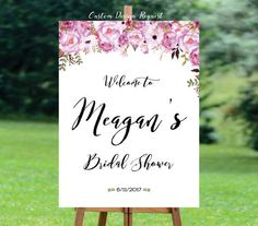 Bridal Shower Welcome Sign. Bridal Shower sign, Bridal Shower decoration DIGITAL FILE - simply print it, put it in a frame and its ready to go! You can either hang it by the seats or place it on a table. Let you guest know where to share their photos of you special day! DETAILS Please send in the Notes to seller upon check out -Brides name, date -the size of the sign - Hastag...  You will be sent a printable file in 1 to 2 business days via email (shown on your ETSY account). Please review…