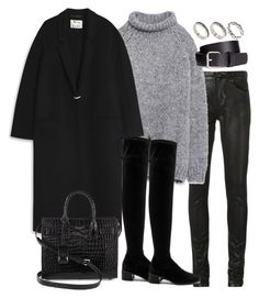 """""""Untitled #3048"""" by theeuropeancloset on Polyvore featuring Yves Saint Laurent, Zara, Acne Studios, Free People, H&M and ASOS"""