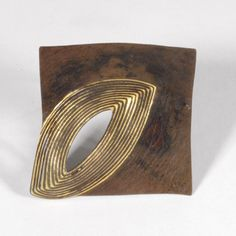 Heike + Ralph Dotzel, Germany - Iron + gold brooch