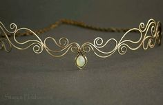 Elven tiara Chalcedony tiara  Wire wrapped tiara by StasyaWireWrap, $48.00
