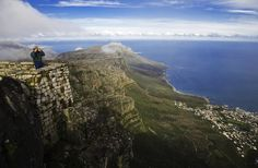 The views from Table Mountain, Cape Town.