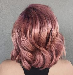 Rose Violet Hair Will Make You Forget About Rose Gold Dye Jobs #HairCareJobs