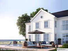 New England ~ Colonial Style New England Hus, New England Style, England Houses, Sweden House, Dream House Exterior, Facade House, White Houses, Home Fashion, Exterior Design