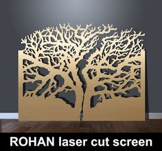 ROHAN laser cut metal screens in tree design – laser cut screens for architectural and home interiors