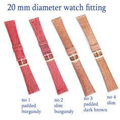 genuine leather perforated mens watch straps 18mm 20m 22mm strap