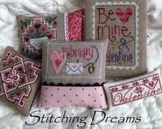 Stitching Dreams: Small finishes and daily smiles Husband Valentine, Valentines, Cross Stitch Embroidery, Embroidery Patterns, Tiny Bunny, Stitch Magazine, Just Cross Stitch, Chart Design, Yellow Fabric