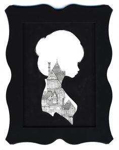 "And they can be embellished too! ""Beautiful Silhouette Drawings by Charmaine Olivia 