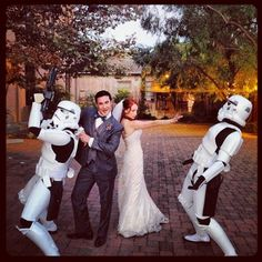 Not even Stormtroopers can stop a Rebel Belle-planned wedding! #starwars #planner