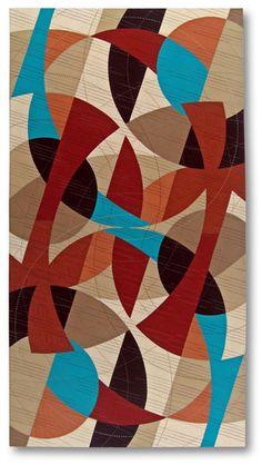 "First Inversion, 54"" x 29"", Cotton fabric | Machine pieced; machine & hand quilted, Liz Kuny, Quilted Art, 2011"
