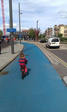 Cycling superhighyway, Stratford, England. Click image to tweet and visit the slowottawa.ca boards >> http://www.pinterest.com/slowottawa/
