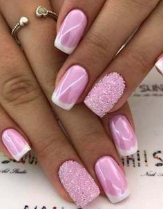 Outstanding Spring Nail Art Design You Can Try 38 - Spring Nails Nagellack Design, Nagellack Trends, Latest Nail Designs, Best Nail Art Designs, Stylish Nails, Trendy Nails, Bridal Nail Art, Pink Nail Art, Holiday Nail Art