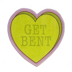 Get Bent Insultation Heart Iron On Patch ($7) ❤ liked on Polyvore featuring fillers, hearts, words, patches and text