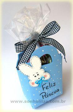Porta-ovos de Páscoa feito com eva - Easter Happy Easter, Easter Bunny, Easter Eggs, Art N Craft, Diy Art, Diy And Crafts, Crafts For Kids, Diy Ostern, Paper Gift Bags