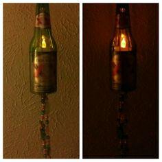 Dos Equis beer bottle light...