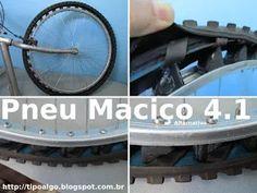 Foto: Pneu Maciço Alternativo versão 4.1 - Ideia de pneu de bicicleta sem câmara…
