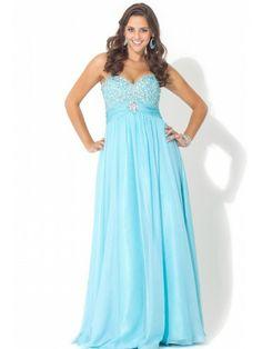 Soft Metallic Chiffon Sweetheart Floor-length Prom Dress