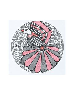 Buy Multicolor Peacock Madhubani Painting x Handmade Paper Paint Art Tribal and Folk Nature's Imprints Vibrant paintings featuring … Madhubani Paintings Peacock, Kalamkari Painting, Peacock Painting, Madhubani Art, Fabric Painting, Mandala Drawing, Mandala Painting, Mandala Art, Mandala Design