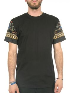3910c26c53d5b Crewneck Tee w  Printed Sleeves 100% Cotton Jersey Sublimated Print Art  Woven Label Zayn