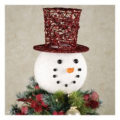How to Make a Snowman Tree Topper | Snowman tree topper, Snowman ...