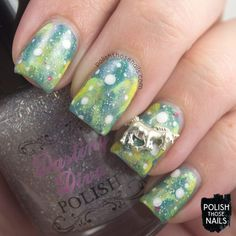 Unicorns & Silver Lemonade // Polish Those Nails // ABC Challenge - Letter U // indie polish - pipe dream polish - zoya - china glaze - darling diva polish - daily charme