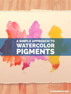 A fun demo on watercolor pigments you won't want to miss! :) #watercolour #jeanhaines